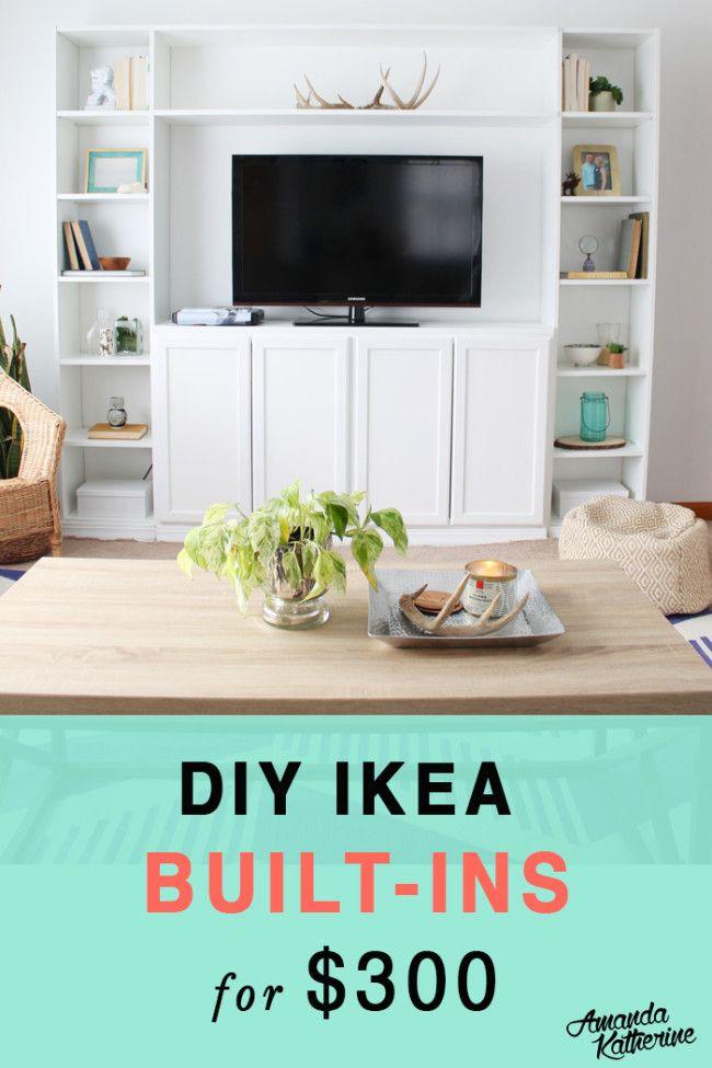 Simple Diy Ikea Hack Built In Tutorial Ikea Built In Ikea Diy