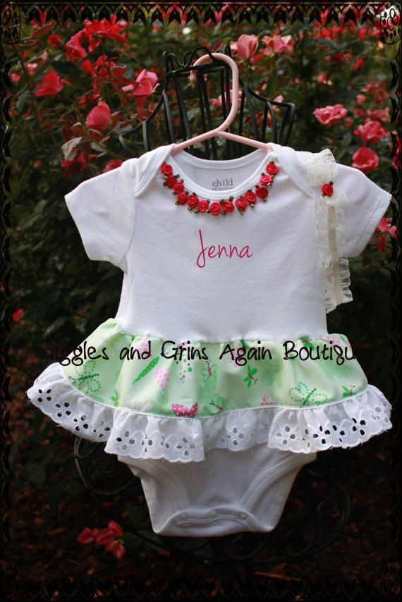 Spring and Summer Infant Girl's Ruffled by GigglesandGrinsAgain, $25.00
