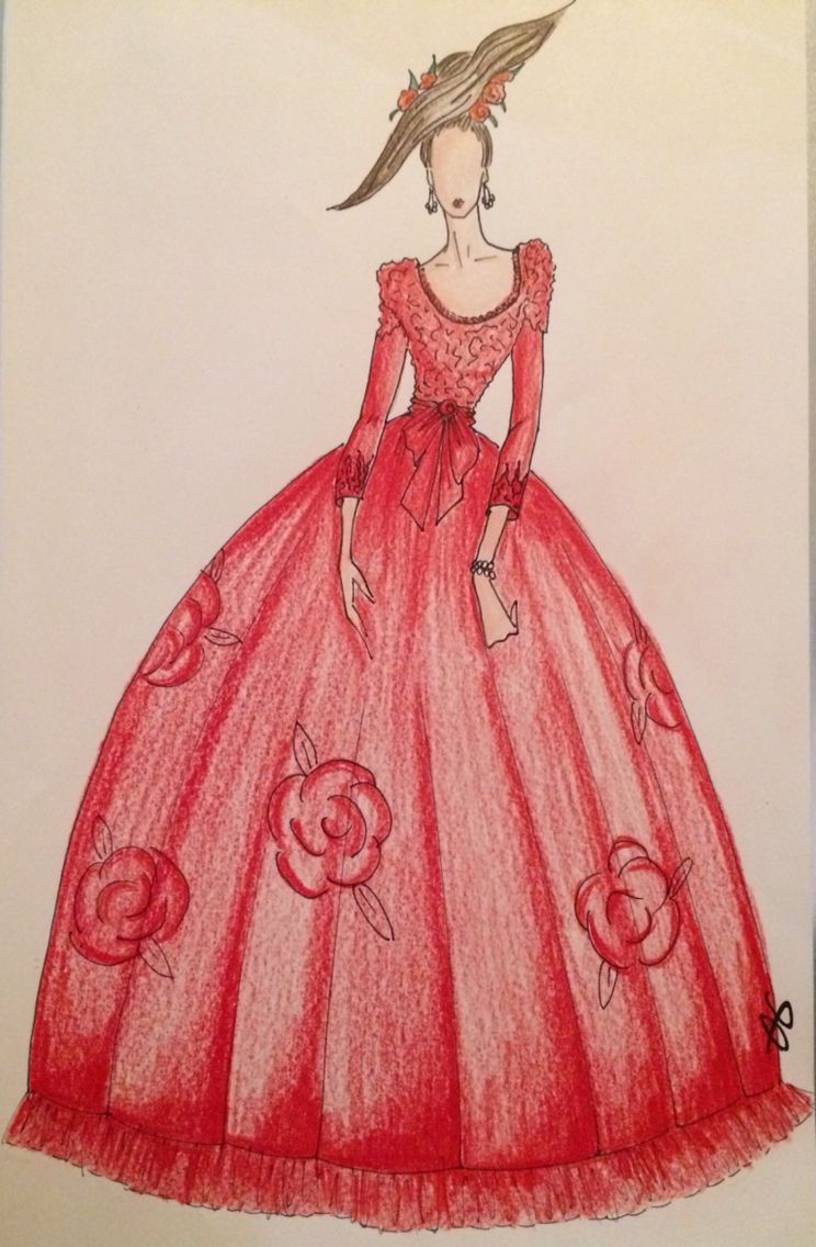 Red Dress Haute Couture.