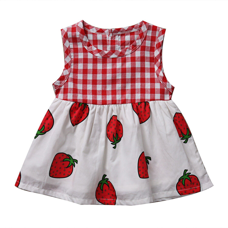35e3a13f7 Lovely Summer Bowknot Sleeveless Girl Dress Toddler Kids Baby Girl ...