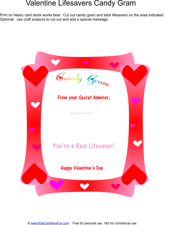 valentine's day lifesavers candy gram | valentine's day/mardi gras, Ideas