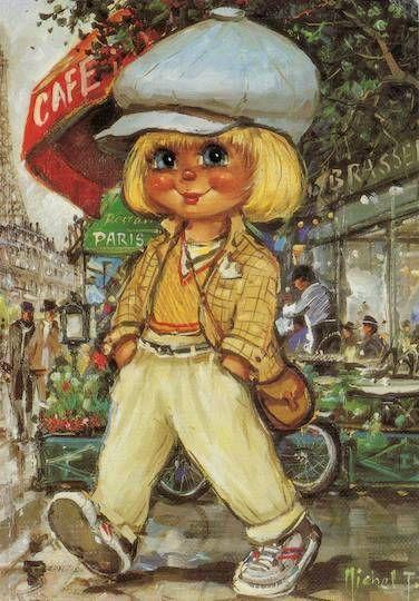 Postal caf de paris michael thomas poulbot biblioth que en 2019 kinderen nostalgie et - Coloriage virtuel ...