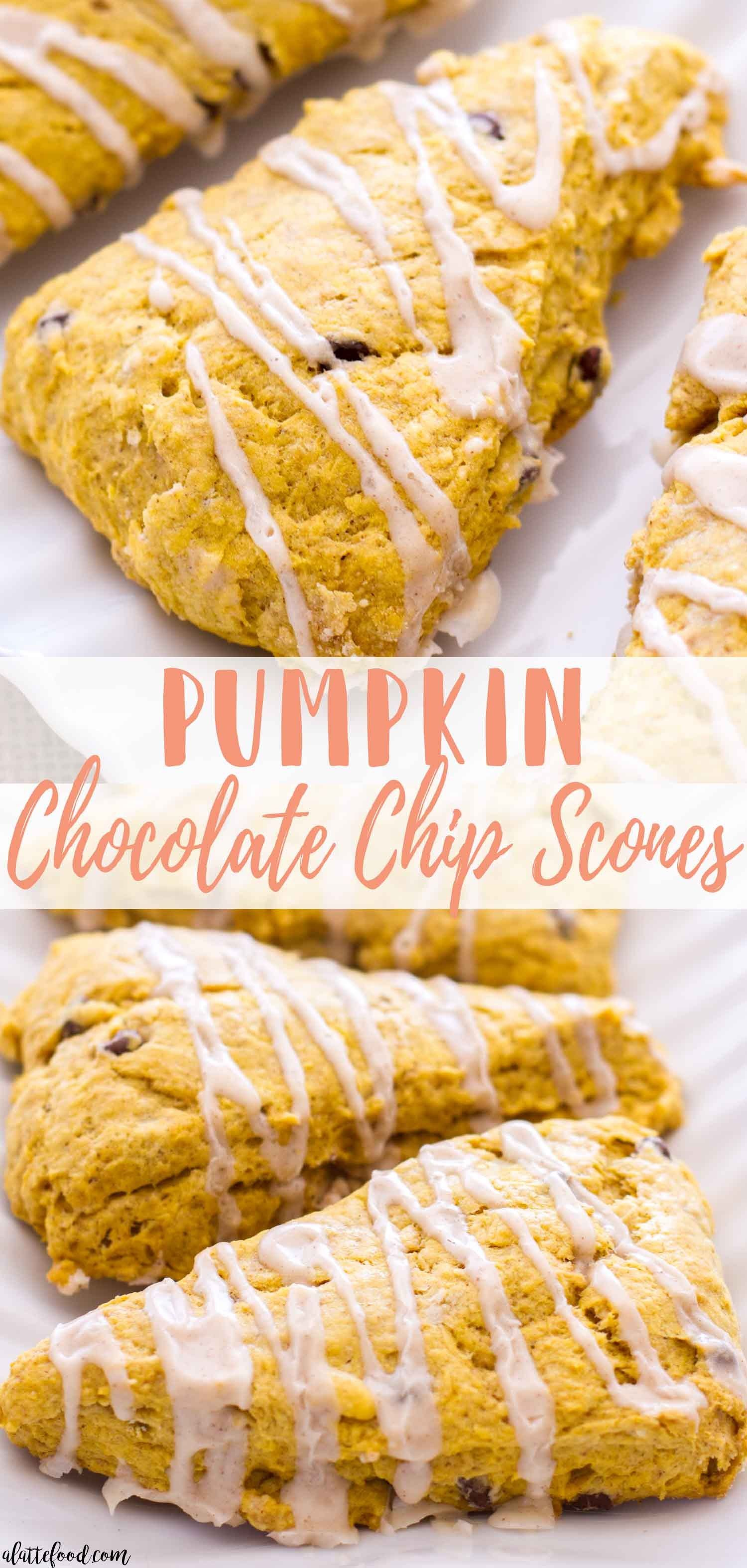 Pumpkin Chocolate Chip Scones