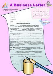 English Worksheets Business Worksheets Page   Places To Visit