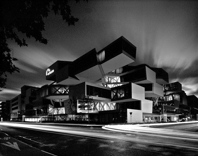 Actelion building, via Flickr BY  Aron Lorincz.     herzog de meuron.