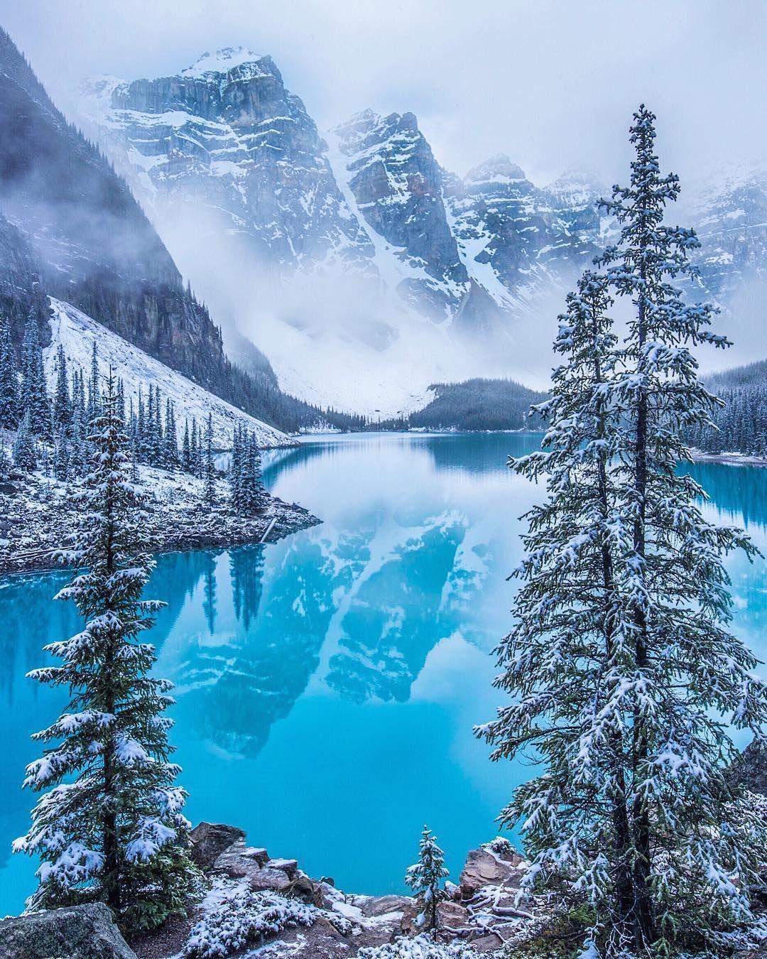 Winter Wonderland At Moraine Lake Banff National Park Alberta By Carmen Macleod 1080x1350 Https Ift Tt 2vvo22v Winter Scenery Nature Landscape Photos