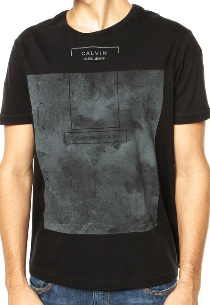 e19516055 Camiseta Calvin Klein Jeans Preta - Compre Agora