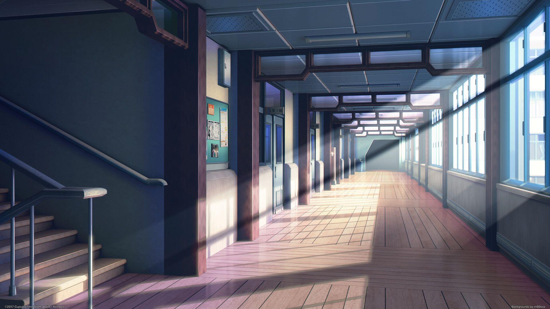 Artstation Second Floor Bogdan Mb0sco Cenario Anime Fundo De Animacao Fundo Para Video