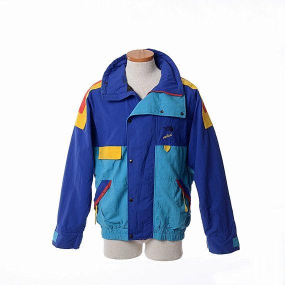 8fd1205fe Vintage 80s The North Face Vertical Gore-Tex Color Block Ski Jacket ...
