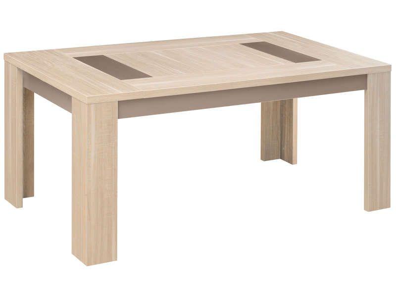 nice Table rectangulaire 180 cm ATLANTA coloris chêne clair ...
