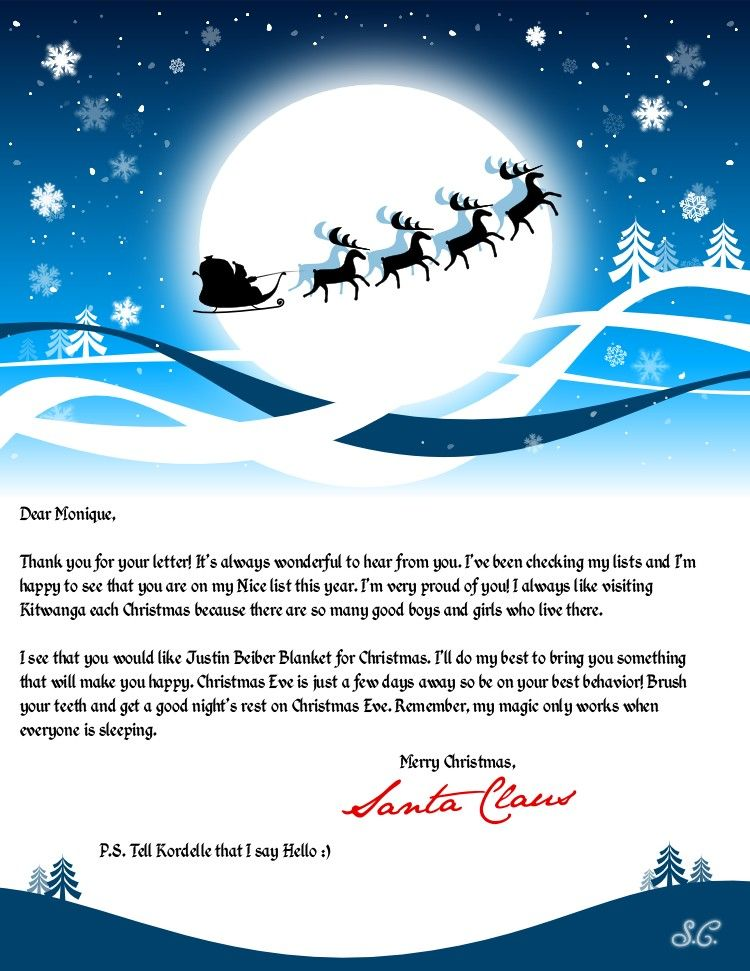 easy free letter from santa magical package christmas pinterest navidad santos y chicas