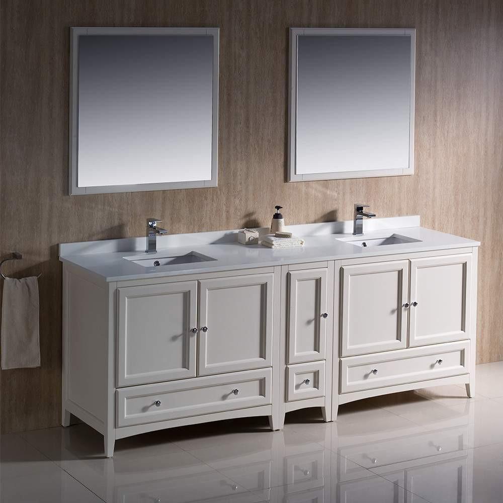 Two sink vanity 10 inch wide storage cabinet