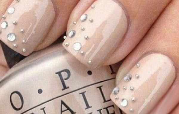 Unas Decoradas De Color Crema Nails Nails Nail Art Designs Y