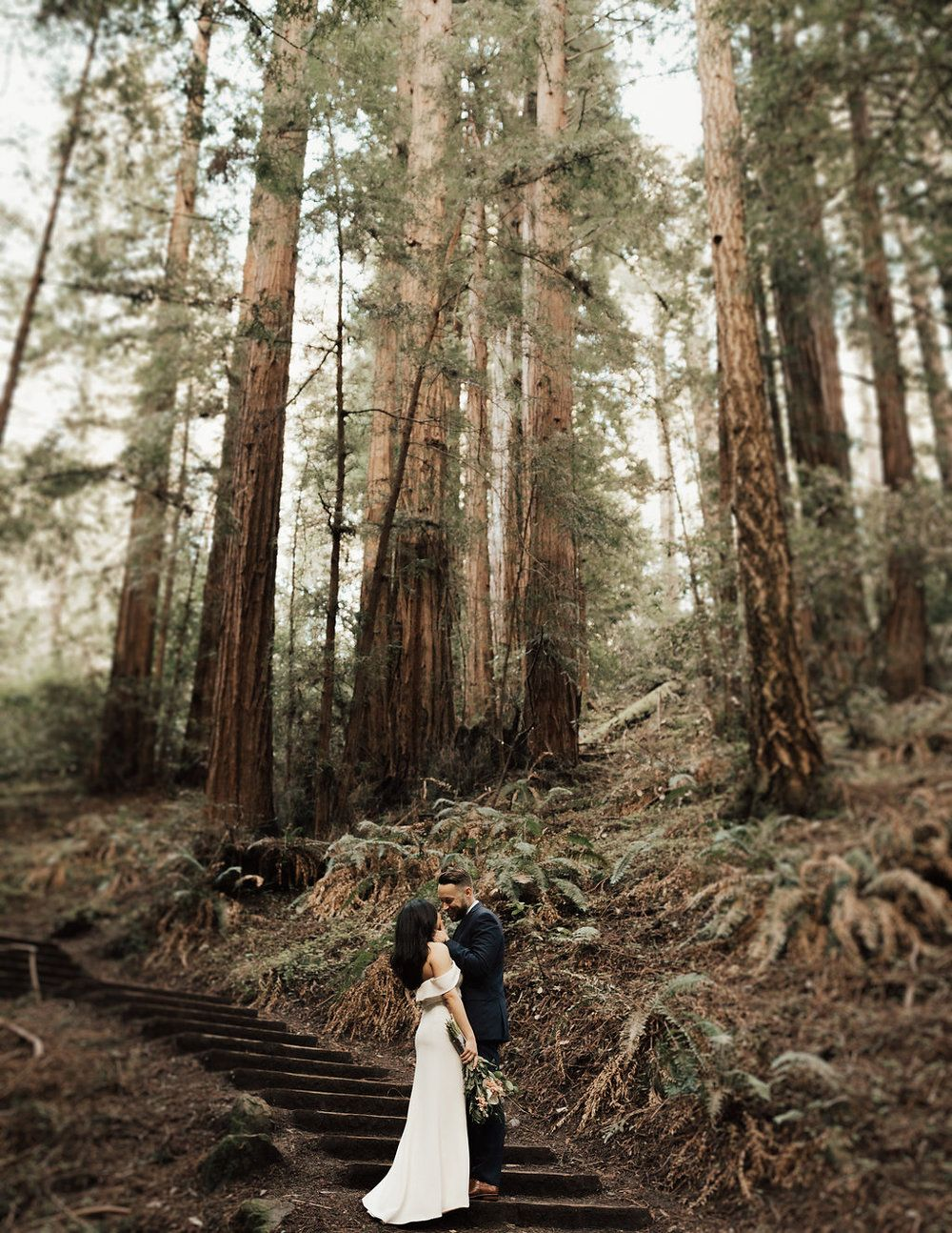 Northern california redwoods elopement wedding wedding