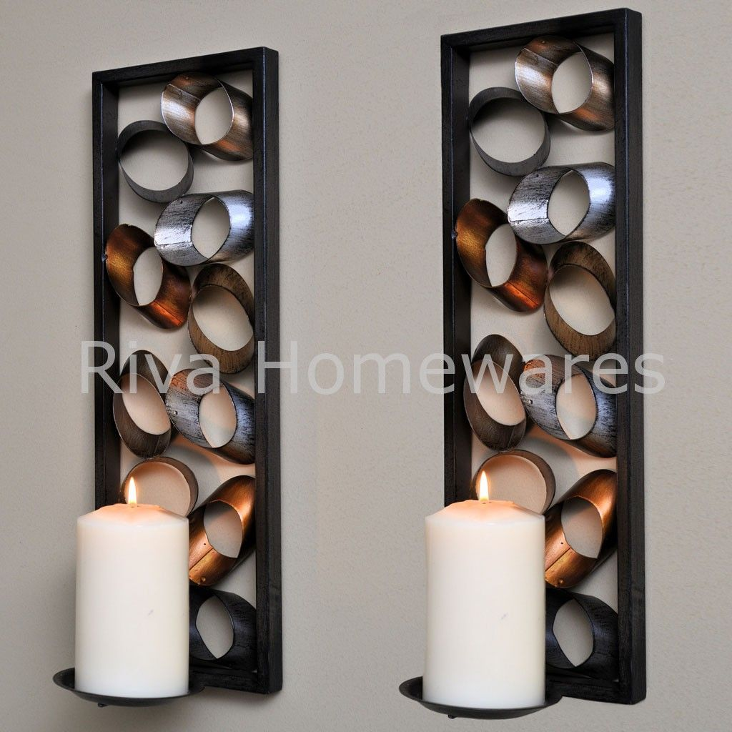 WALL ART CANDLEHOLDER WALL SCONCES cm H PAIR WALL ART
