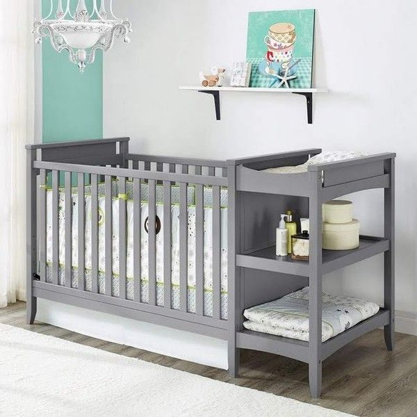 Emma Crib Changing Table Grey ($260) ❤ liked on Polyvore featuring ...