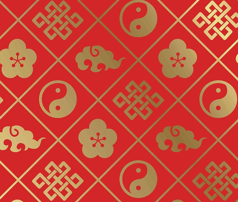 Feng Shui Pattern Good Luck Symbols Asiantaoultimate Happiness