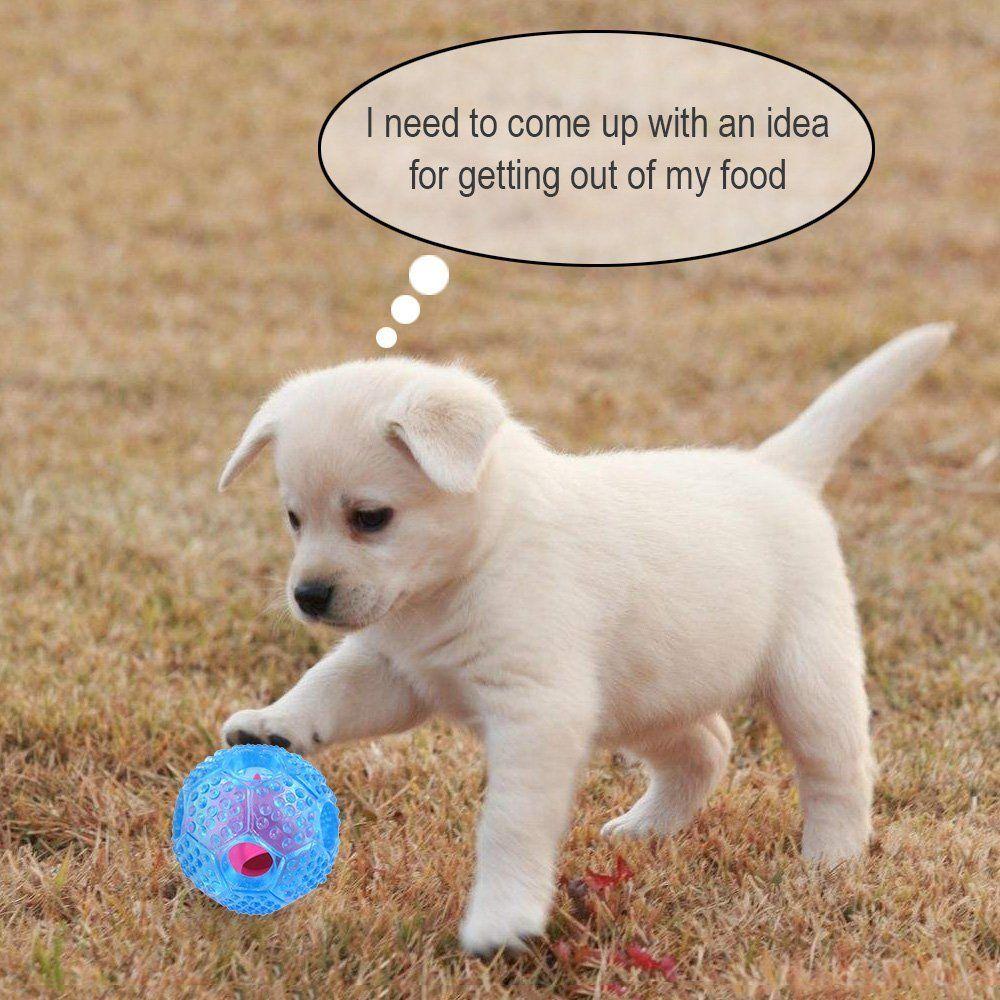 Dog Chew Ball Toy For Boredom Bestanx Iq Treat Interactive Dental