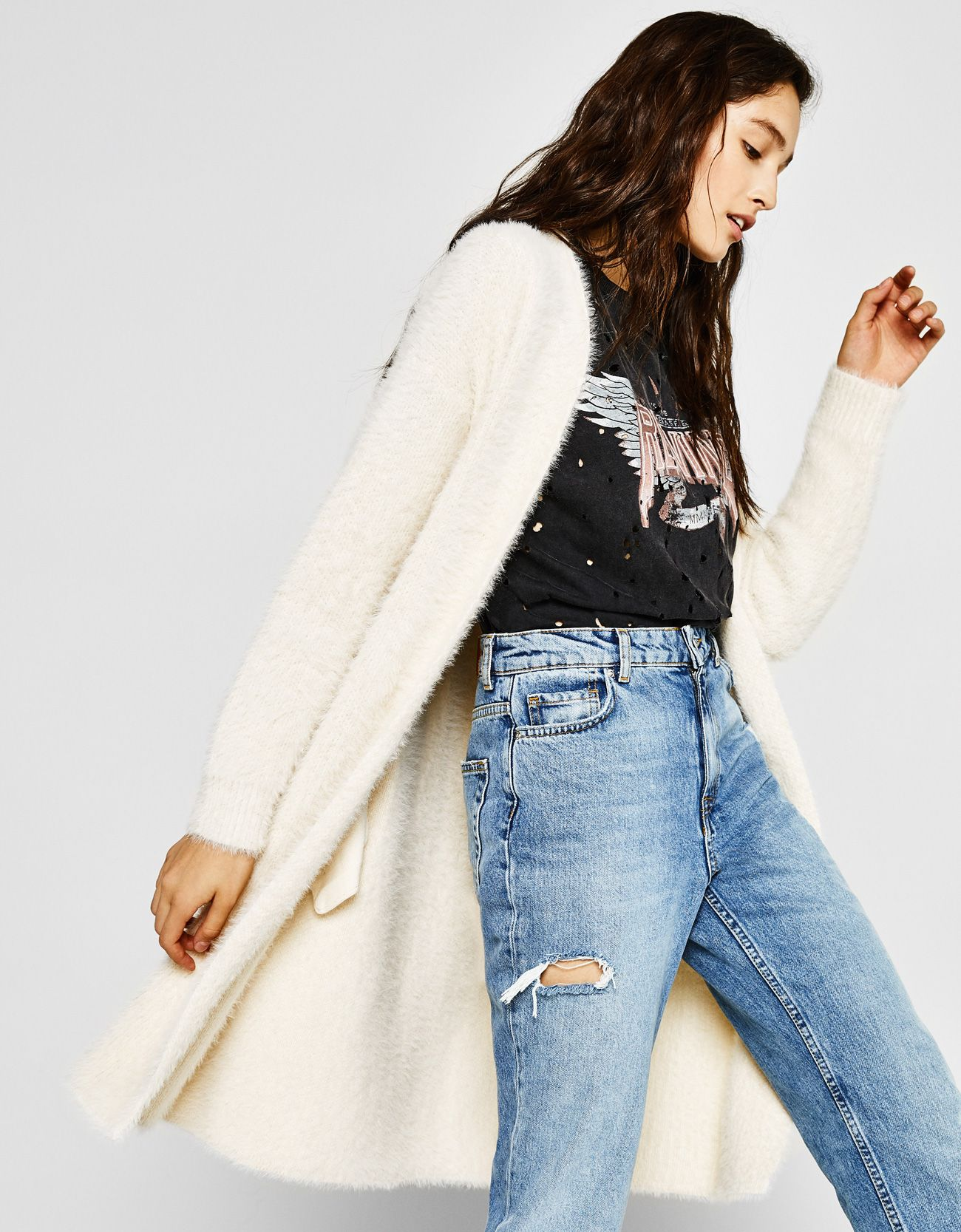 Fluffy oversized cardigan. Discover this and many more items in Bershka  with new products every week 0c9441f42