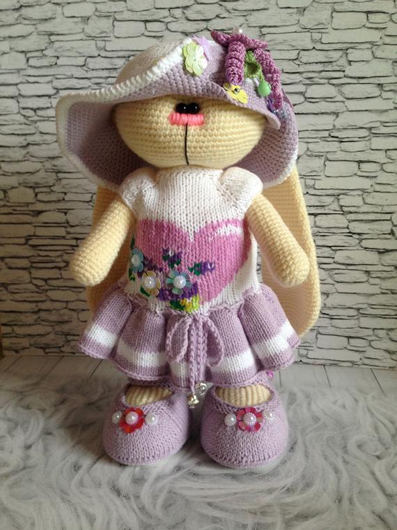 заяц вязаный крючком Products Crochet Toys Knitted Dolls Knit