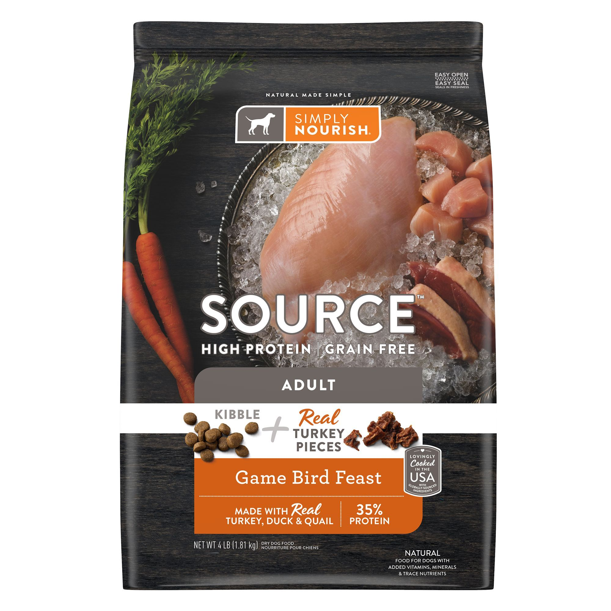 Simply Nourish Source Dog Food Natural High Protein Grain
