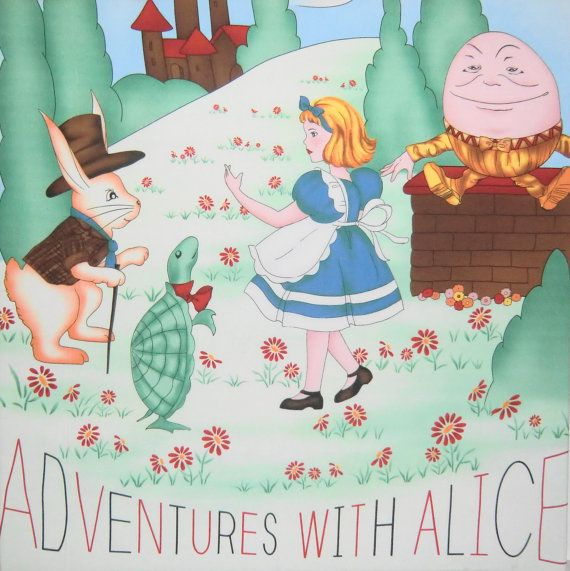 20 X 20 Alice in Wonderland Wall Hanging Childrens by CZamore, $22.00