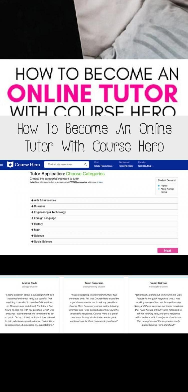 Become An Online Tutor With Course Hero And Make Up To 500 A Week