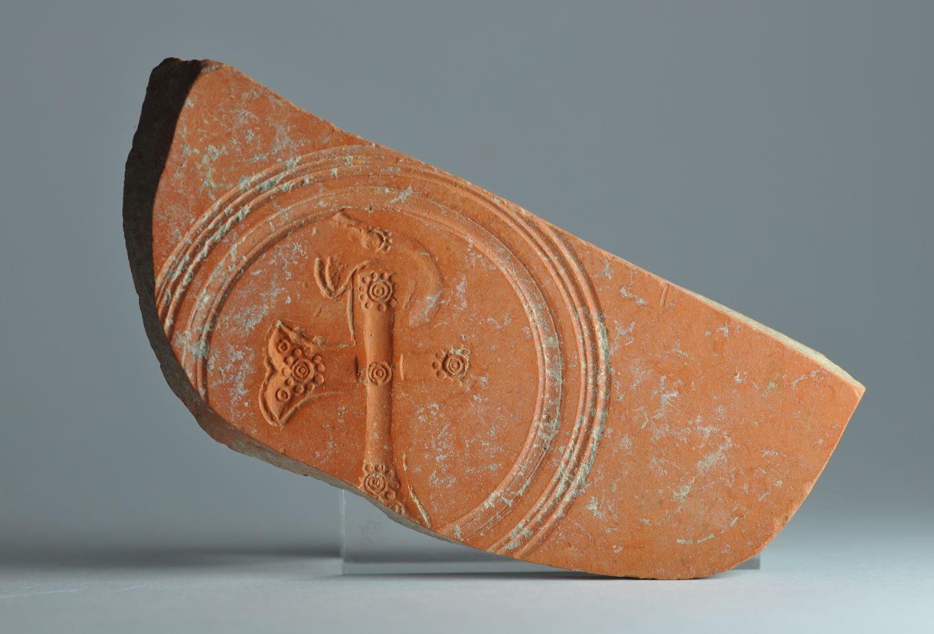 African red slip ware sherd Chi Rho 18