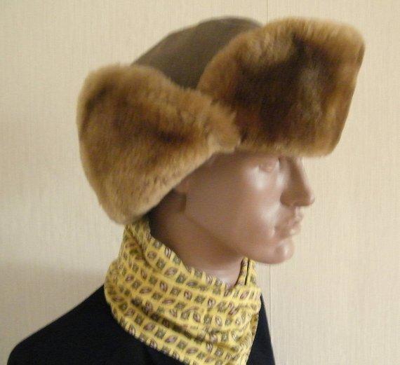 Vintage 40s rare fur hat MILITARY fur hat WW 2 british army