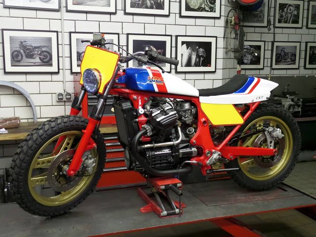 Honda CX500 Flat Track HRC Version By Dirk Oehlerking Motorcycles Flattracker Motos