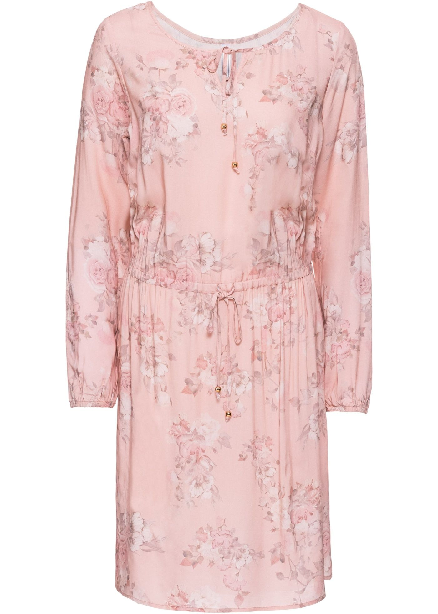 Kleid Mit Gummizug Bequeme Mode Rosa Spitzenkleider Und Altrosa