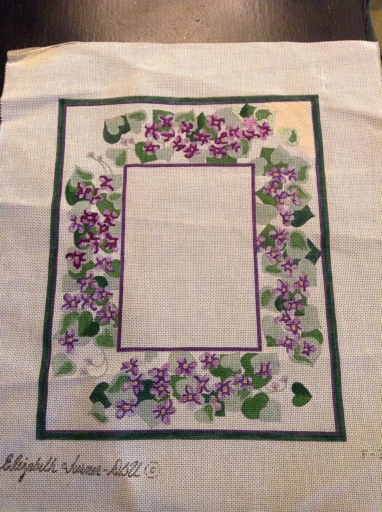 Pansy Needlepoint Frame Canvas by Elizabeth Turner | Needlework ...