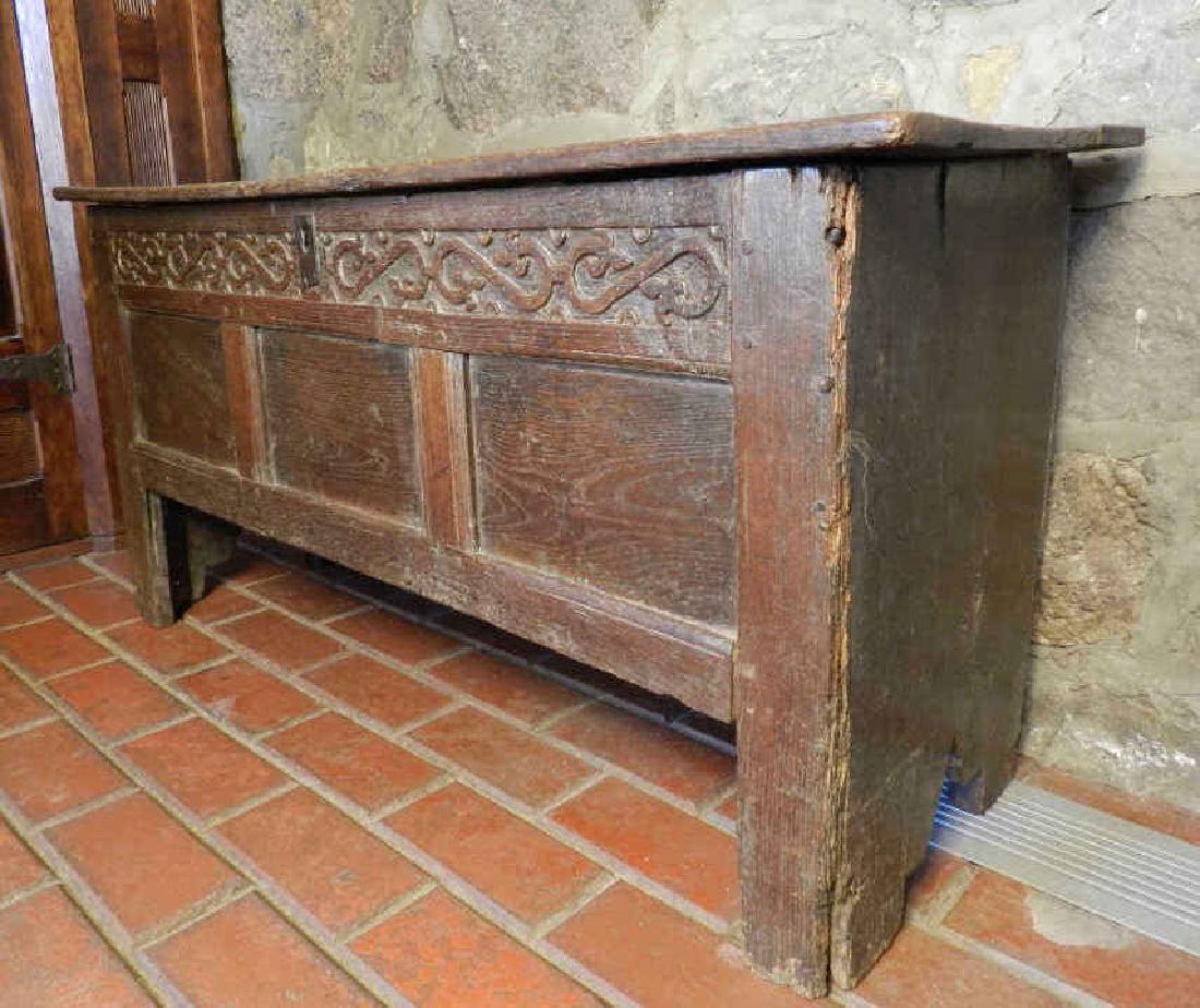 Lot: 18th Century Oak Coffer, Lot Number: 0247, Starting Bid: CA. CofferVintage  FurnitureCleveland18th ...