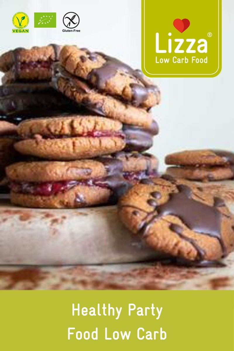 Low Carb Chocolate Cookies PARTY FOOD  LOW CARB CHOCOLATE COOKIES  CHOCOLATE DESSERTS  HEALTHY DESSERTS  GLUTEN FREE  These low carb chocolate cookies are perfect for any...