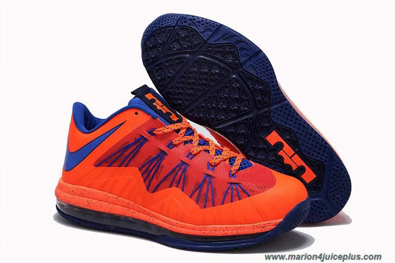 New Black Orange Blue Nike Air Max Lebron 10 Low