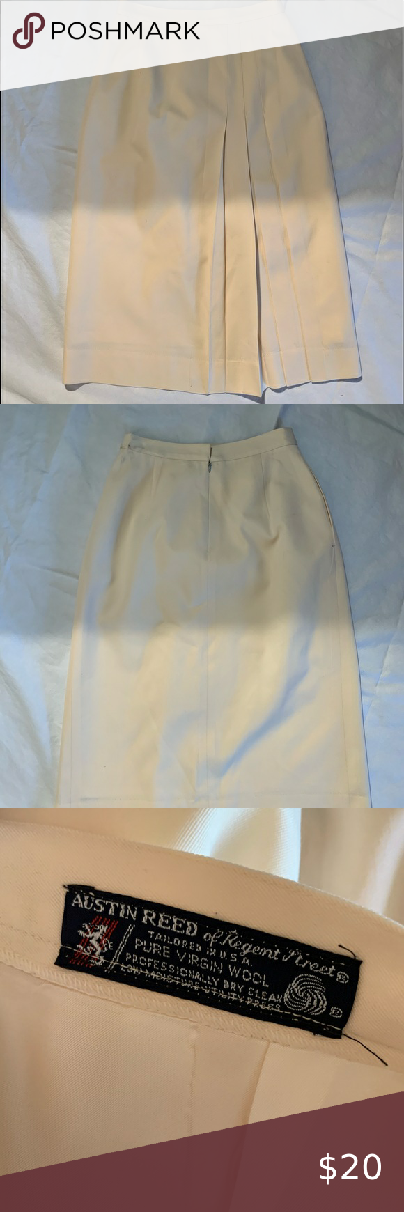 Austin Reed Size 6 Pure Wool Midi Skirt Length 30 Skirt Length Pure Products Women Shopping