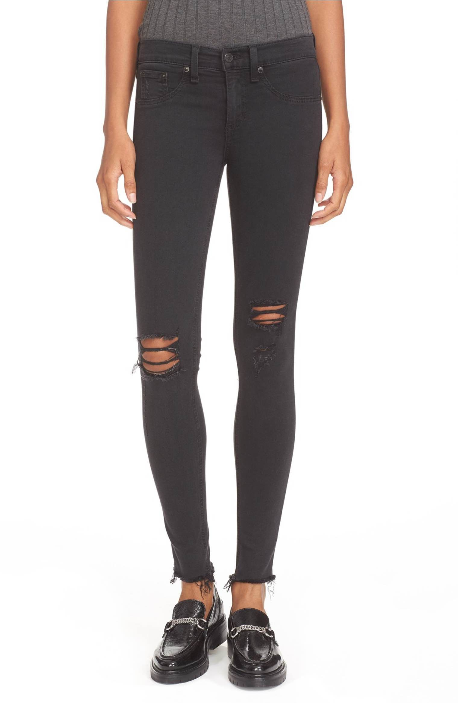 bde82f4cac64c Main Image - rag & bone/JEAN Ripped Denim Leggings   fashion style ...