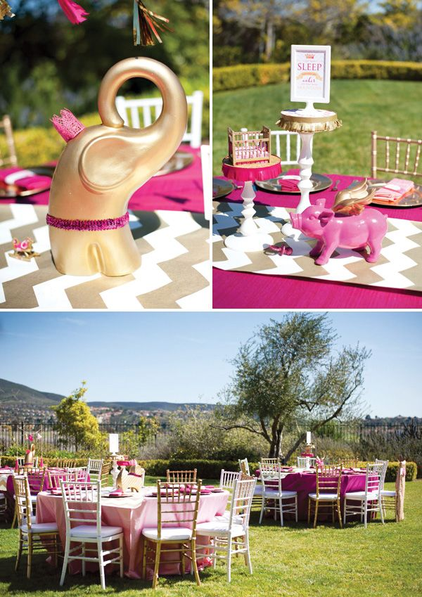 Pink And Gold Baby Shower Decorations ~