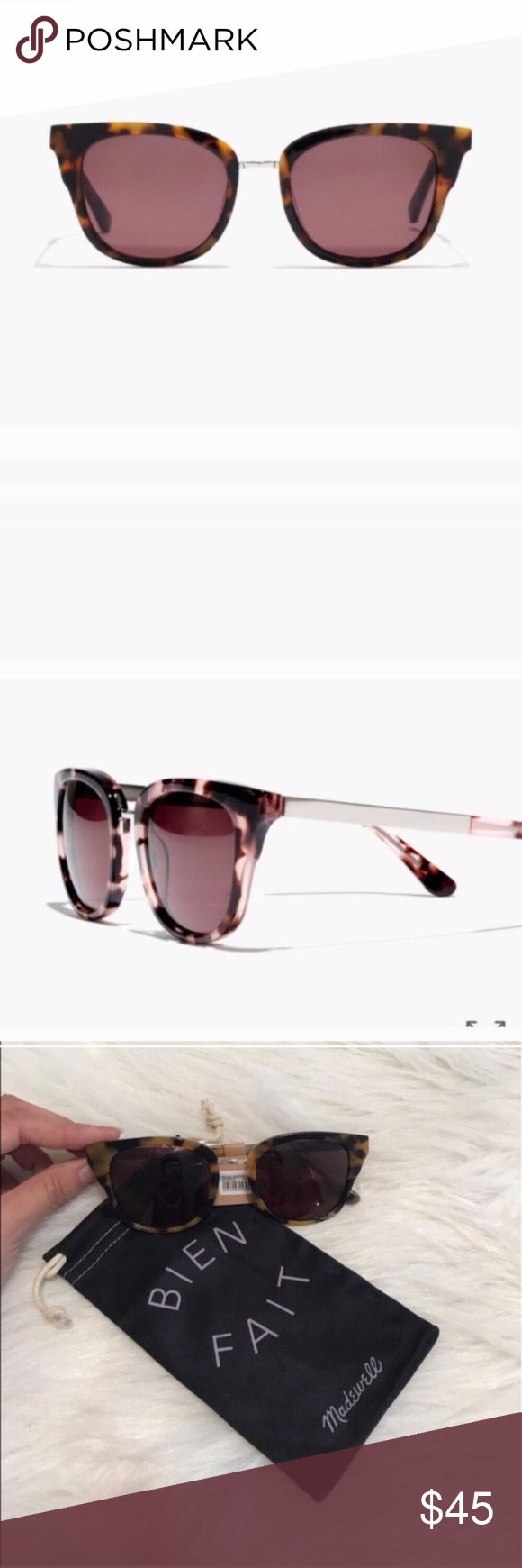 1f4d31ee5e MADEWELL PLAYLIST SUNGLASSES Beautiful and stylish! NWT! Bold acetate frame  with a touch of metal at the bridge. So universally flattering.