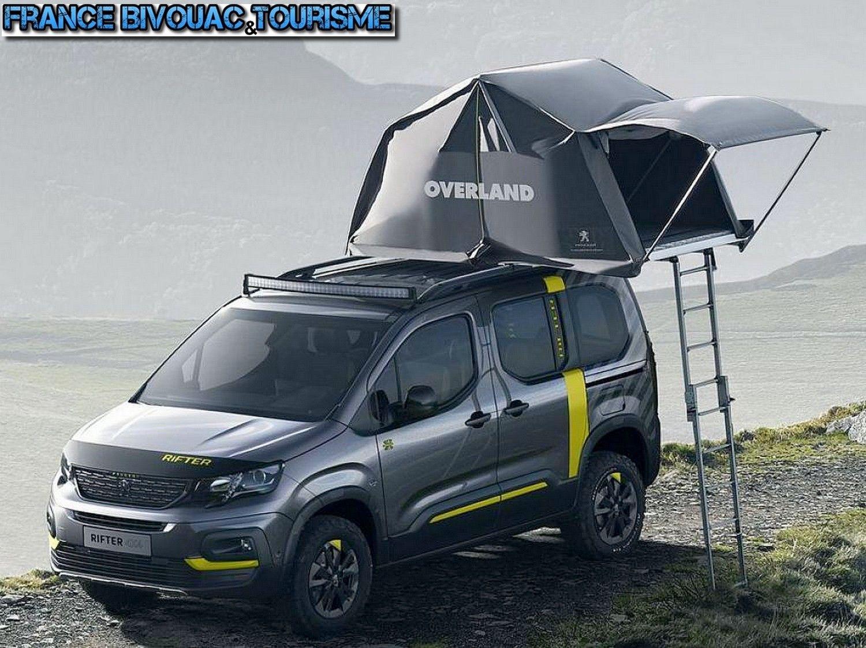 nouveau crifter peugeot 4x4 dangel baroud avec tente de toit overland pr par pour l 39 aventure