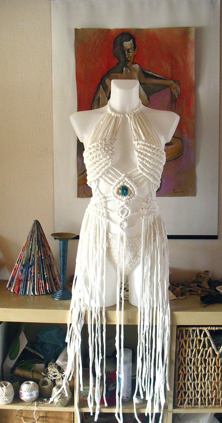 Festival clothing women, Festival clothing sets dress, festival dress, rave outfit, burning man clothing, White macrame dress