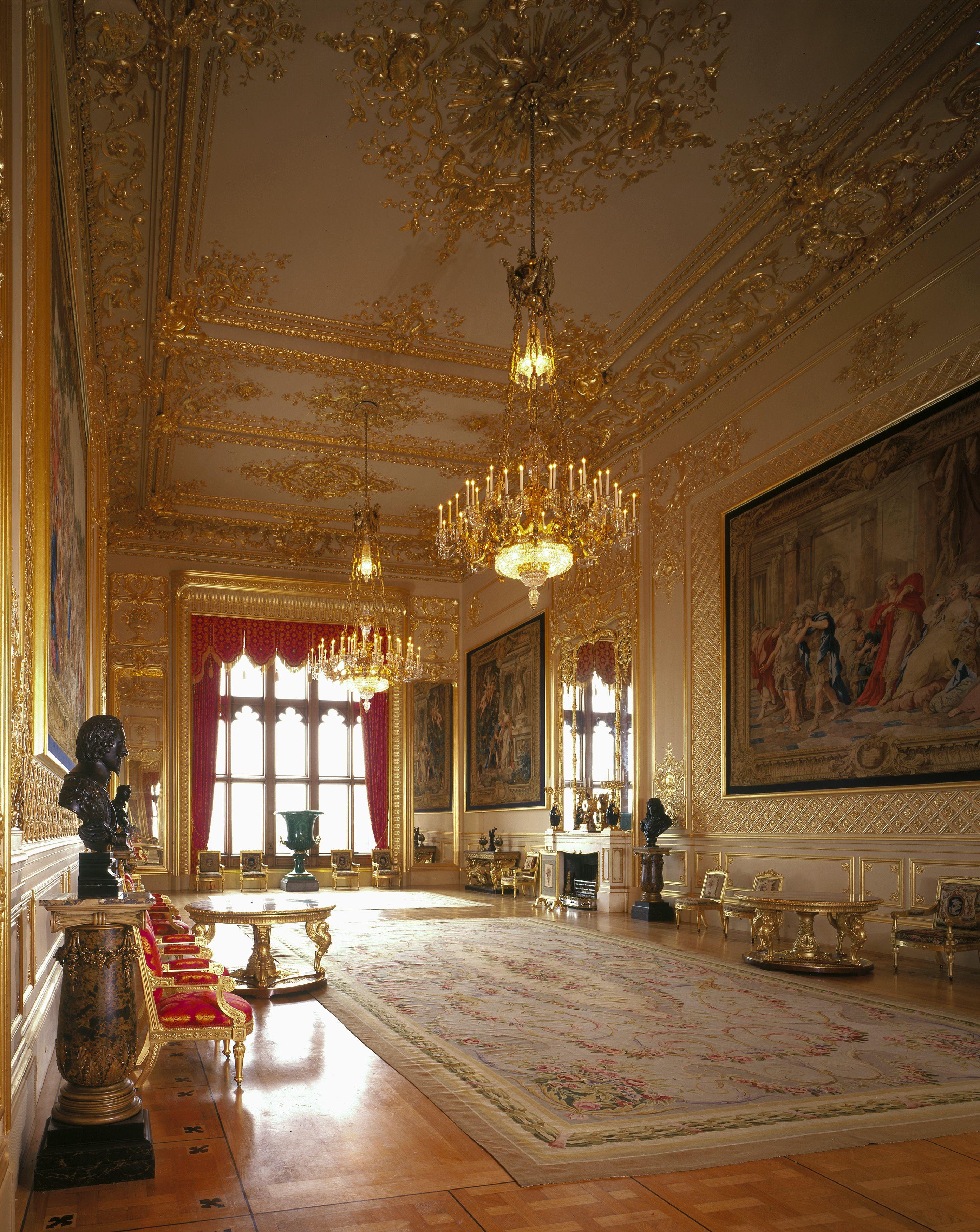 grand reception room windsor castle fit for a king or. Black Bedroom Furniture Sets. Home Design Ideas