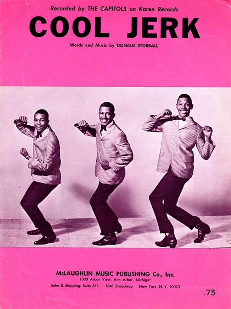 """The Capitols """"Cool Jerk"""" (1966) — Sheet Music"""