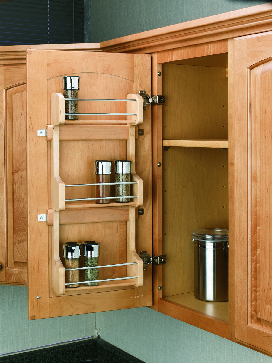 Maintain Shelf Space And Keep Spices Within Reach With Rev A Shel Kitchen Cabinets Storage Organizers Door Mounted Spice Rack Small Kitchen Design Indian Style