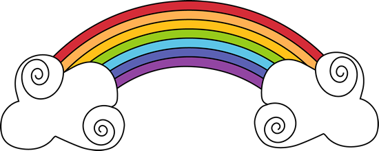 rainbow and swirly clouds weather clip art pinterest cloud rh pinterest com clipart of clouds clip art of clouds and sun