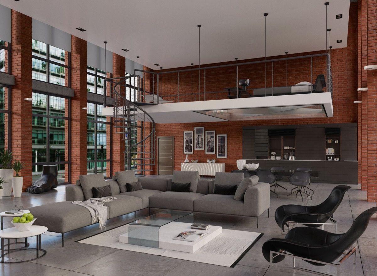Luxuriöses Wohnzimmer Design mit modern-klassischen Interieur ...