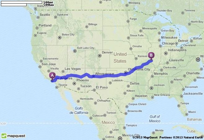 Planning!! Driving Directions from Los Angeles, California ...