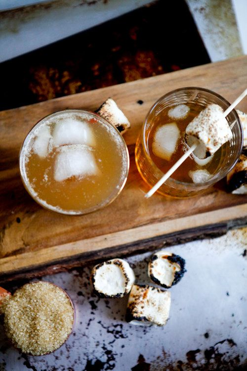 Photo of Campfire cocktail for fall: Rye whiskey and marshmallow simple syrup — Freckle & Fair | Recipes, DIY tutorials, travel guides and general awesomeness