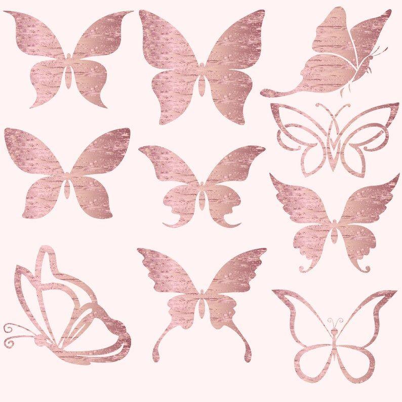 Butterflies Clipart Gold Foil Butterfly Butterflies Clip Etsy In 2021 Butterfly Clip Art Rose Gold Butterfly Rose Gold Wallpaper Iphone
