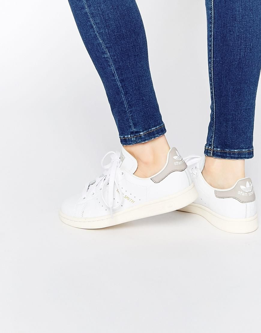 adidas Originals White Stan Smith Trainers at asos.com